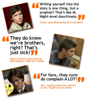 Filed Under: TV Quotes of the Week Tagged With: supernatural tv quotes
