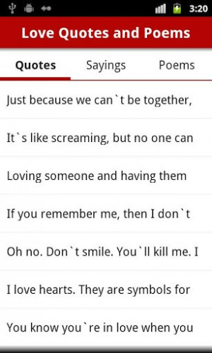 Love Quotes and Love Poems - Android