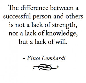 Vince Lombardi Quote - Success