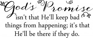 God's Promise Christian Wall Quotes