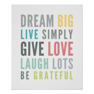 LIFE MANTRA QUOTE positive typography pastel color Posters