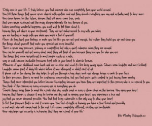 Bob marley when youre in love quote