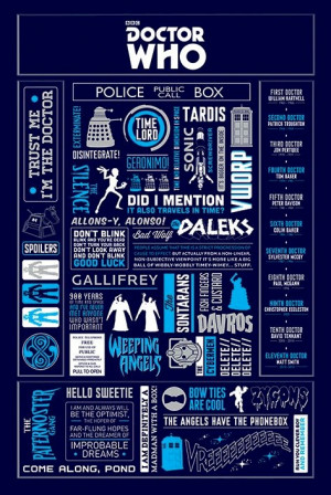 DOCTOR WHO POSTER ~ GENERAL INFO 24x36 DR TV Quotes David Tennant Matt ...