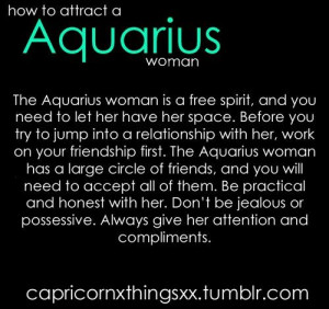 rules for dating an aquarius woman