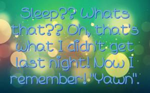 Facebook Statuses About Sleep
