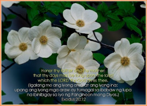 honor thy father and thy mother that thy days may be long upon the ...