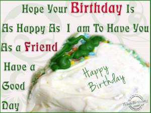 happy birthday dear friend wishes