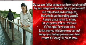 Did-you-ever-fall-for-someone-you-know-you-shouldnt-Try-hard-to-fight ...