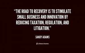 The road to recovery is to stimulate small business and innovation by ...