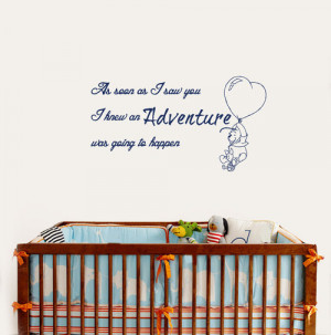 Winnie the Pooh Quote Adventure Happen Home Wall Art Decor Removable ...