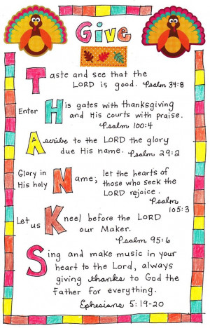 Give Thanks Bible Verses - nice reminder- change to a landscape format ...
