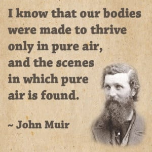 Famous John Muir quote about how important fresh and pure air is to ...