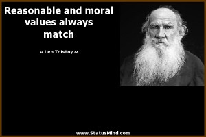 Moral Values Quotes Reasonable and moral values