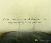 One Thing You Can Do Better Than