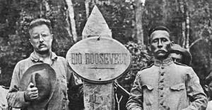 ... dos Estados Unidos, Theodore Roosevelt (à esq.), com Marechal Rondon