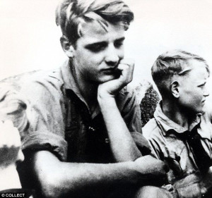 Hans Scholl pictured here with his brother, Werner. I'm not sure about ...
