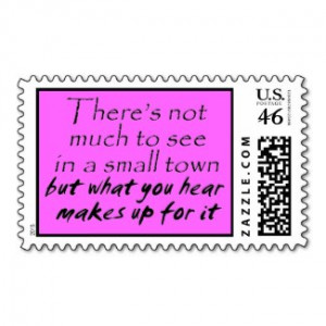 Funny quotes pink stamps small town joke humor by Wise_Crack