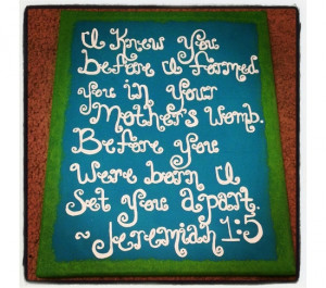 Perfect for a baby shower gift Bible verse inspirational quote for ...