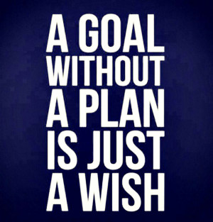 "Planning Quote 1: ""A goal without a plan is just a wish"""