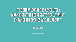 The snow leopard is absolutely magnificent. It represents really what ...