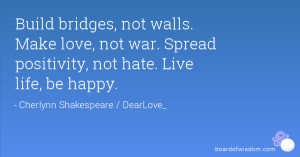 Spread Love Not Hate Quotes