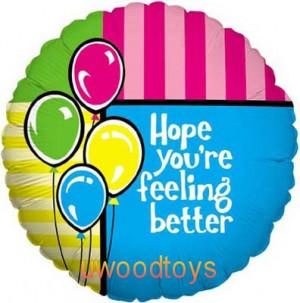Feeling better helium balloon in a box