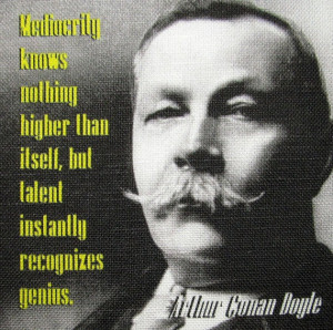 Arthur Conan Doyle QUOTE 2- Printed Patch - Sew On - Vest, Bag ...