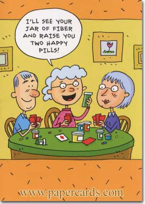 Senior Poker (1 card/1 envelope) Oatmeal Studios Funny Birthday Card ...