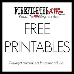 Firefighter Wife - Free printable for March from FirefighterWife.com ...