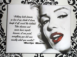 Famous-Quote-wall-plaque-Marilyn-Monroe-DRINK-IT-UP-Quote-framed ...
