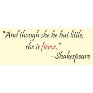Shakespeare Quote (Though she may...) - Vinyl Wall Art | A Mighty Girl