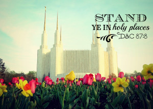 Stand Ye in Holy Places Gift Idea