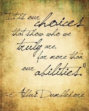 Dumbledore. Choice and Accountability.