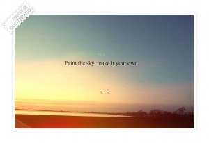 Paint the sky quote
