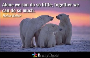 Together We Can Make A Difference Quotes Alone we can do so little;