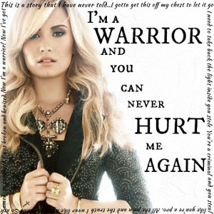 demi lovato warrior song quotes