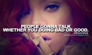 Rihanna Bad Girl Quotes. QuotesGram