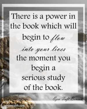 Great reminder of the power of the Book of Mormon- perfect to go with ...