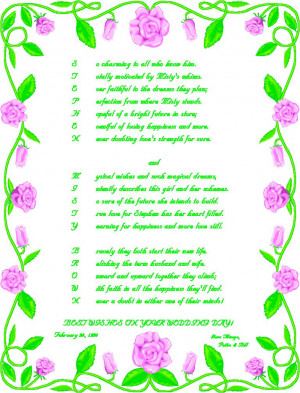 Funny Poems Weddings