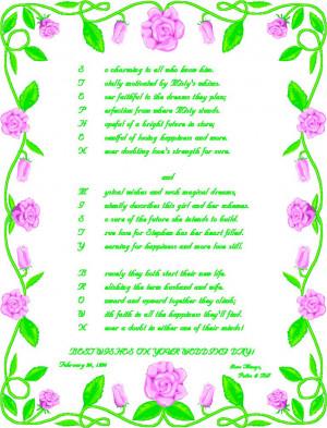 Funny Poems Weddings
