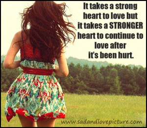 Strong Heart Love quote