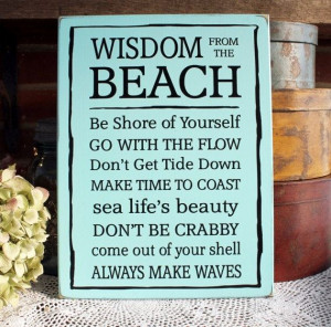Sayings from the Beach Wooden Sign Cottage Wall Decor Summer Coastal ...