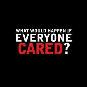 What would happen if everyone cared? #occupylove