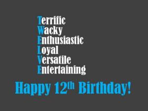 Happy 12th Birthday Son Happy 12th birthday wishes
