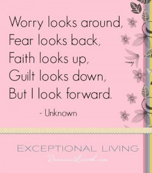 Looking forward quote