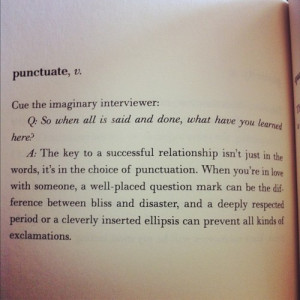 ... The Lover's Dictionary , by David Levithan , p. 162. Picador 2012