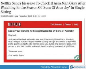Netflix is checking on you