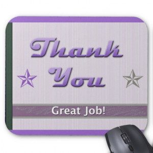 thank you mousepads employee recognition appreciation quotes ...