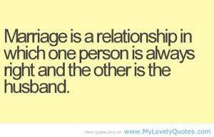 Funny Marriage Husband Quote