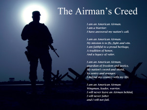The Airman's Creed. Click to enlarge...